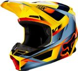 2019 Fox V1 MOTIF Motocross Helmet YELLOW